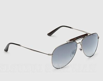 639bcc1790744 GUCCI AVIATOR SUNGLASSES GG 2235 S DARK RUTHENIUM BAMBOO GREY