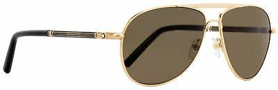 Montblanc Aviator Sunglasses MB512S 30J Gold/Black 61mm 512