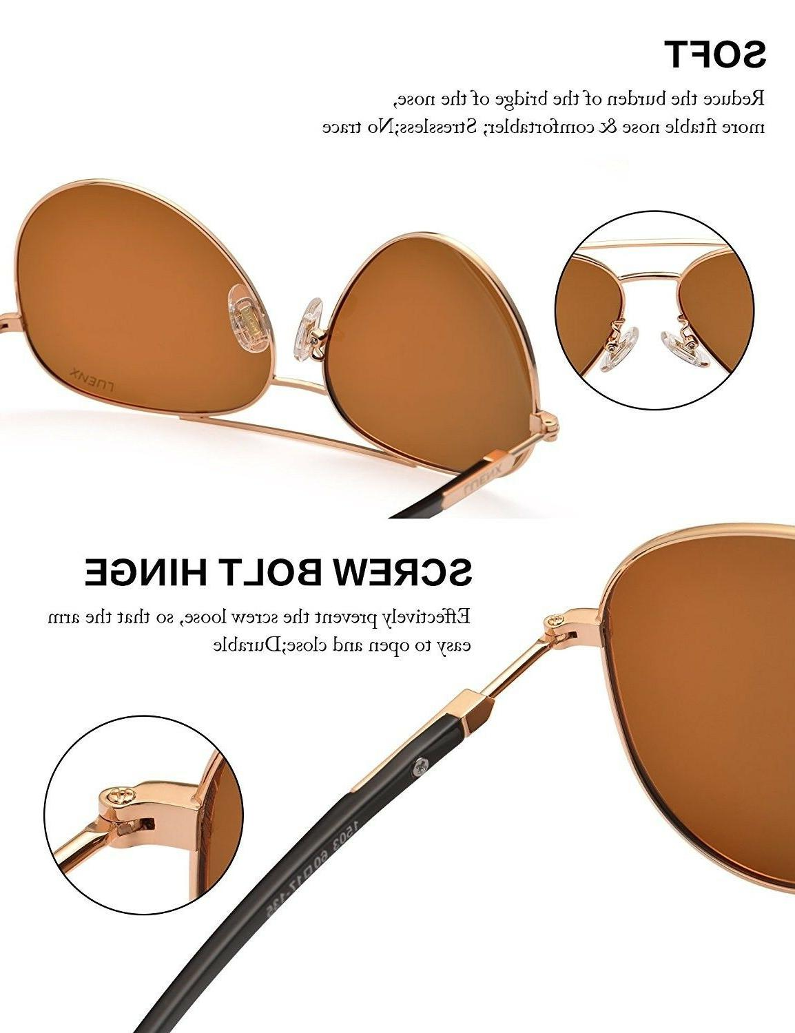 LUENX Aviator Polarized with - UV 400 new