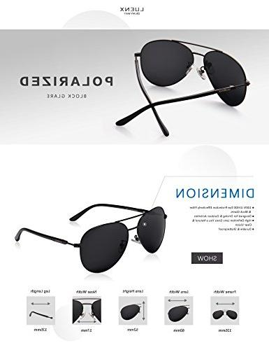 Aviator Sunglasses Women Polarized Metal Frame Dark 60mm with