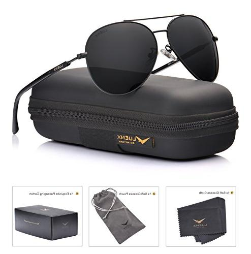 aviator sunglasses polarized black lens