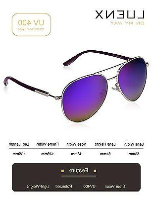 LUENX Polarized Mirror Purple Silver