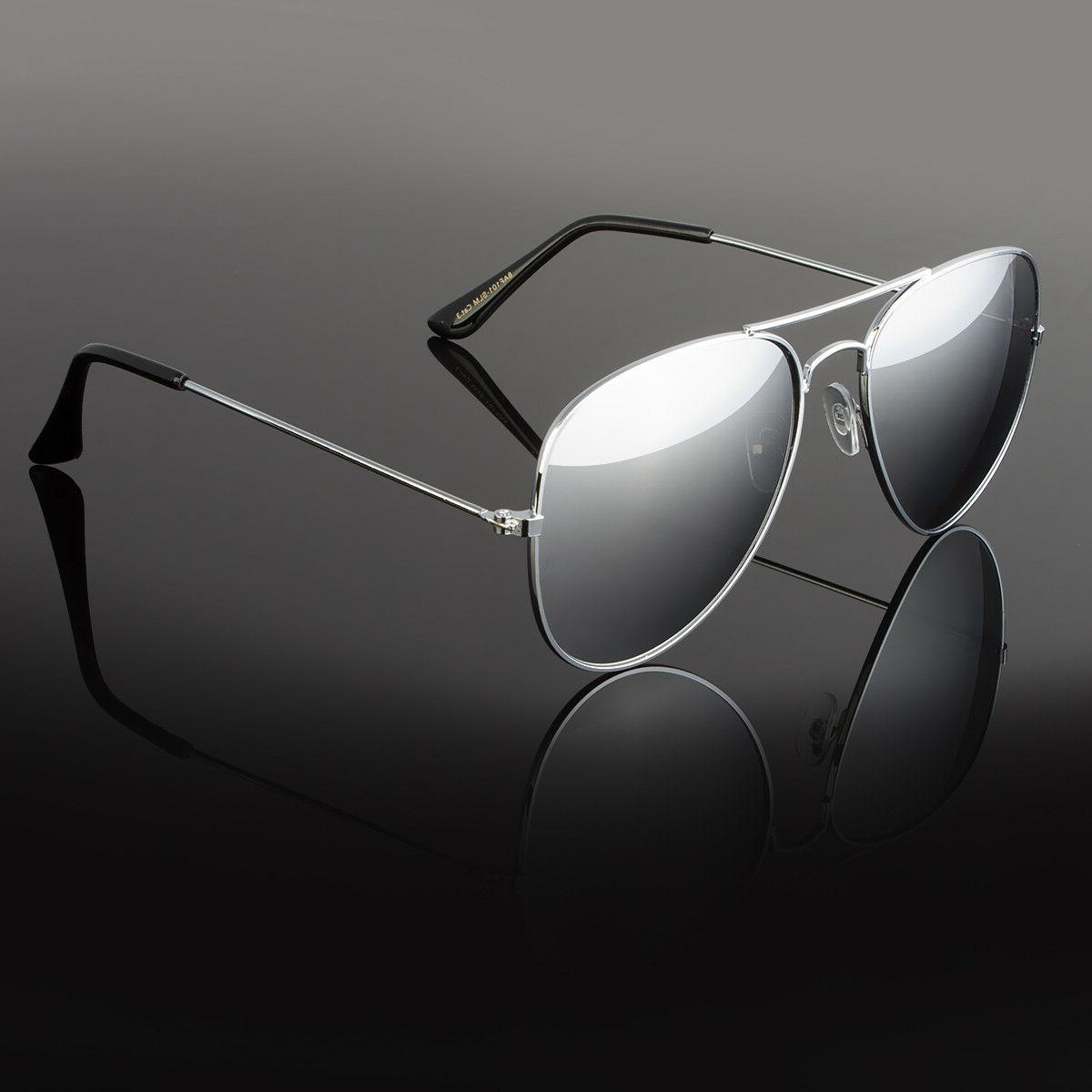 aviator sunglasses vintage mirror lens new men