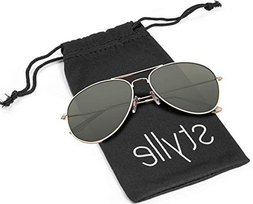 Aviator UV400 Polarized Gold and with Pink