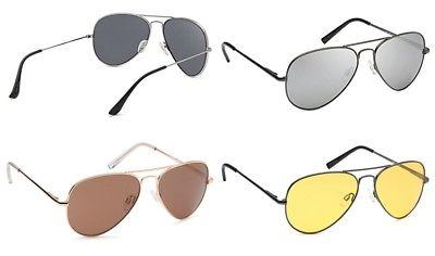 aviator uv400 sunglasses w flash mirror lenses