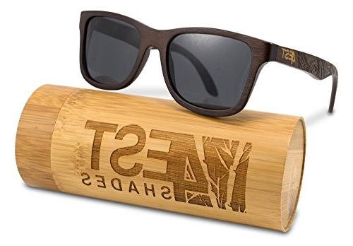 bamboo wood sunglasses polarized handmade wooden shades