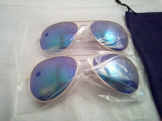 Blue with Gold Aviator Protective Bag, 100% UV