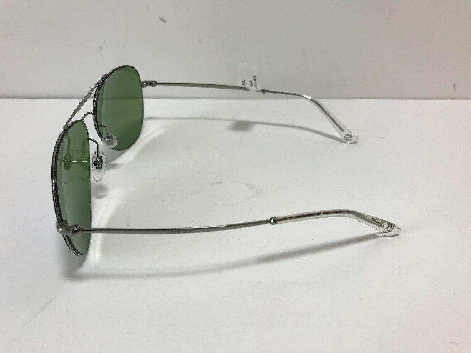 Brand Aviator Sunglasses 59mm Ruthenium / Green