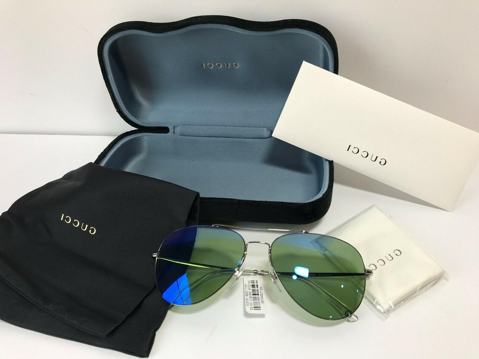 Brand Aviator Sunglasses 003 Ruthenium / Green