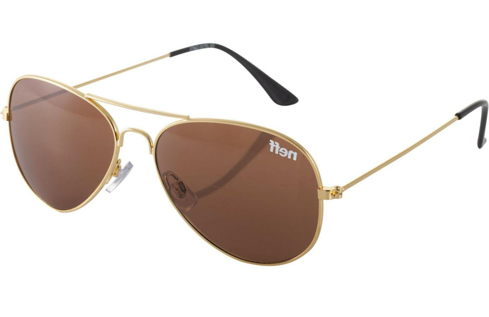 Neff Bronz Avaitor Shades Sunglasses With Cloth Pouch  - 100