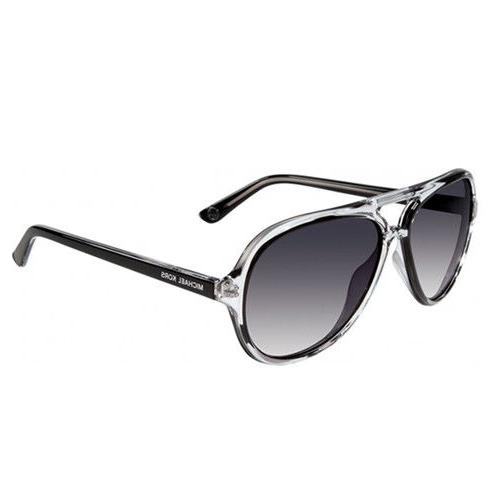 Michael Kors Caicos Black Acetate Womens Aviator MK Sunglass
