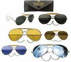 Classic Aviator Style Sunglasses Smoke Green Yellow Mirror B