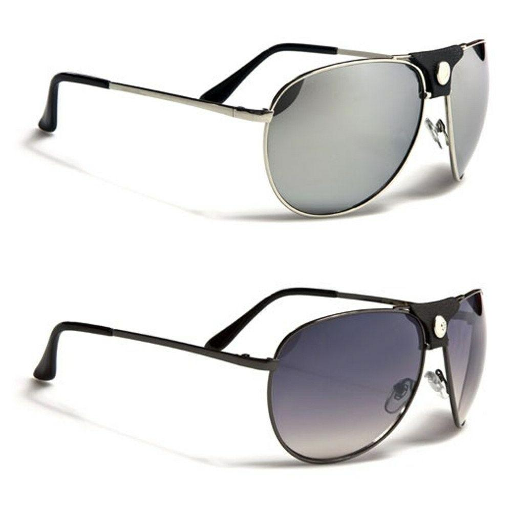 Air Force Classic Mens Aviator Sunglasses Leather Detail on