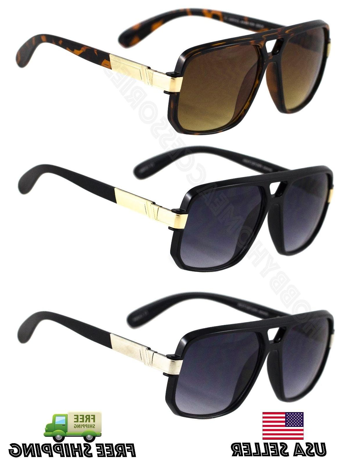 Classic Retro Men's Fashion Aviator's Vintage Designer Sungl