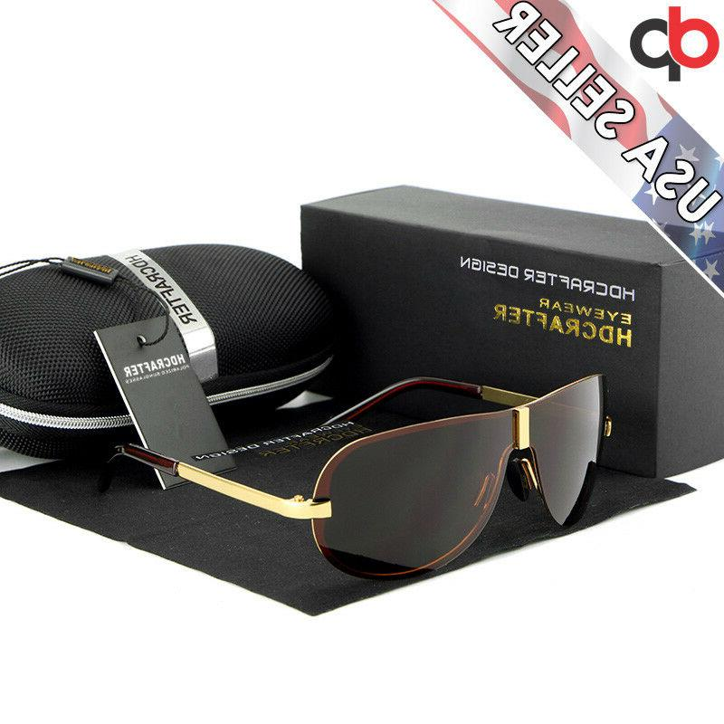 HDCRAFTER Men's Polarized UV400 w/Case