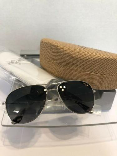 cliff house silver aviator frame polarized lenses