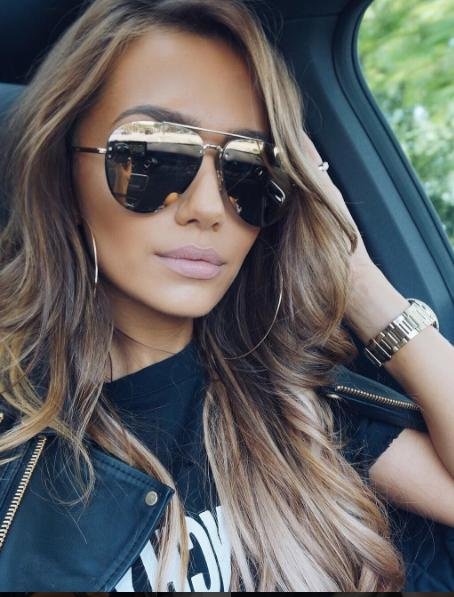 """ DA MUSE "" MIRROR Aviator Frames Women Sunglasses Reflectiv"