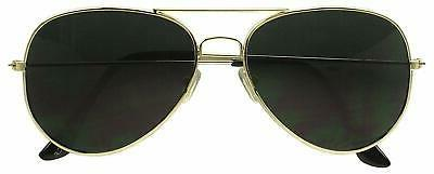 dark aviator sunglasses gold frame pitch black