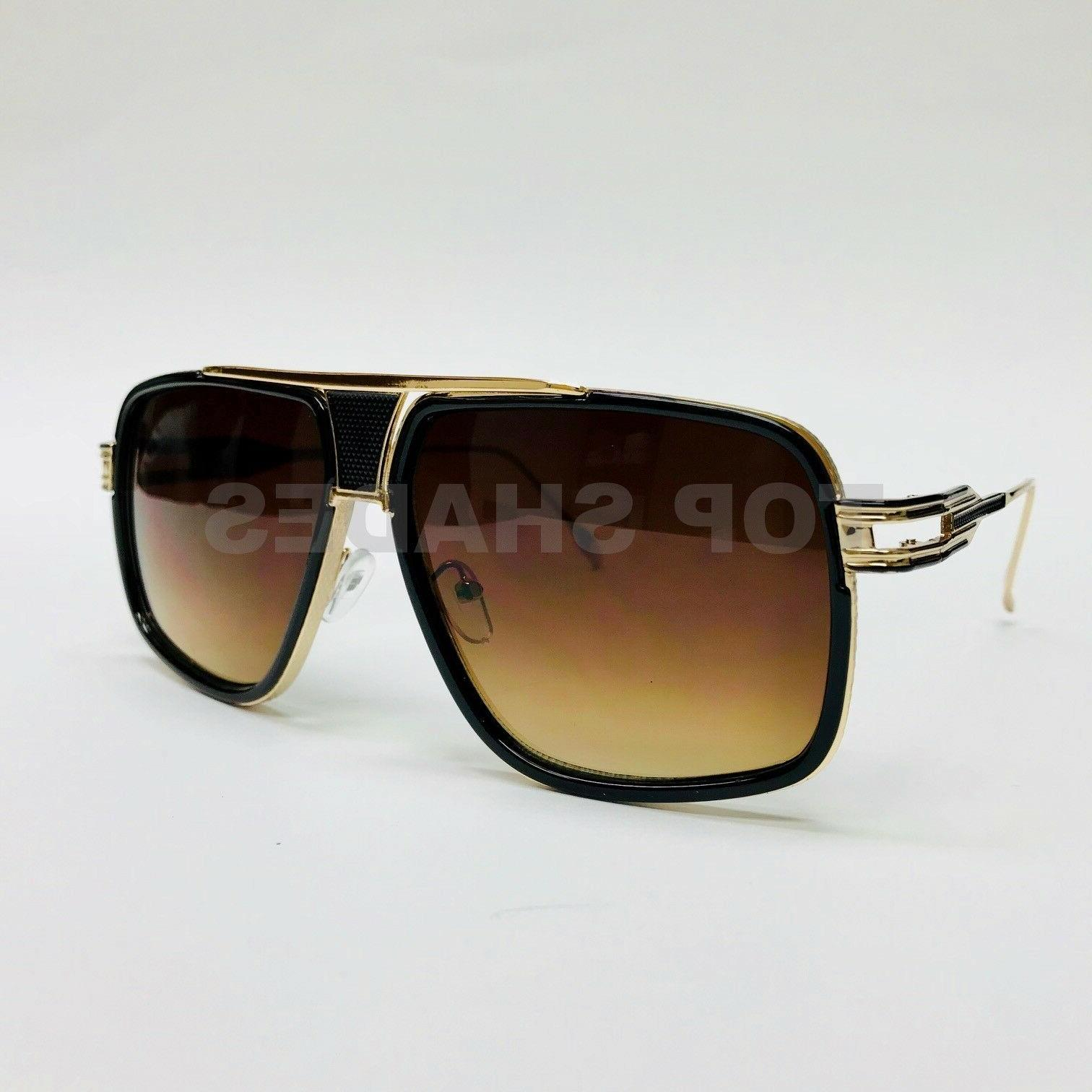 Designer Sunglasses Metal Bar Retro Frame