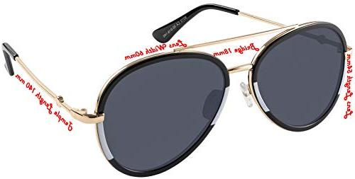 Double Aviator gold black white with grey