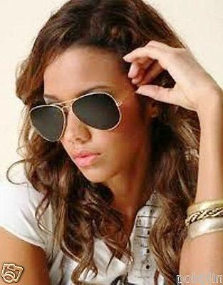 Extra Large Aviator Sunglasses Gold Frame Dark Black Lenses