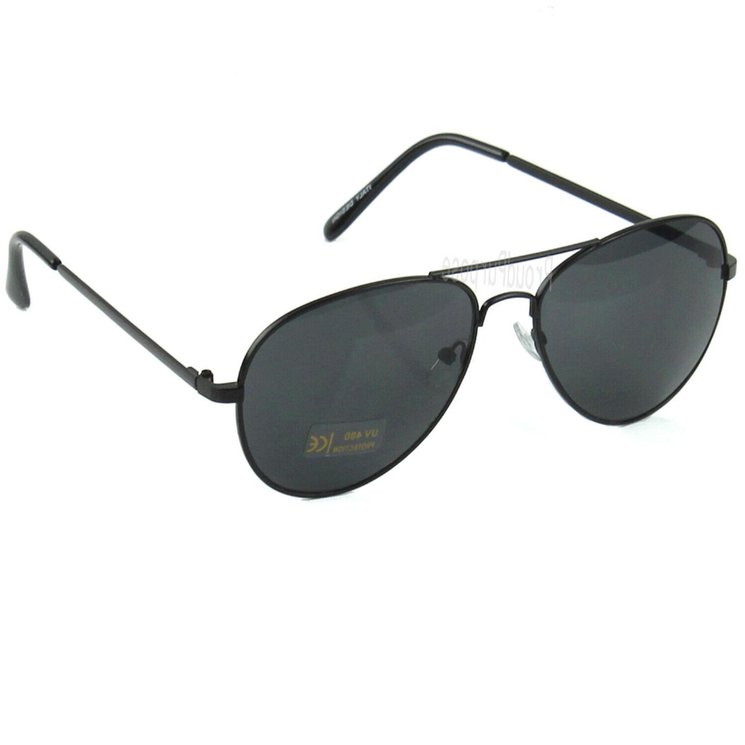 Fashion Men's Sunglasses Black Metal Vintage