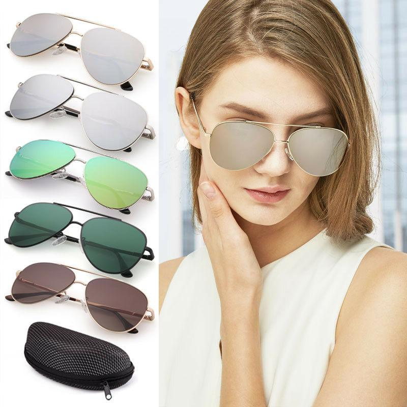 fashion flat aviator sunglasses for women men