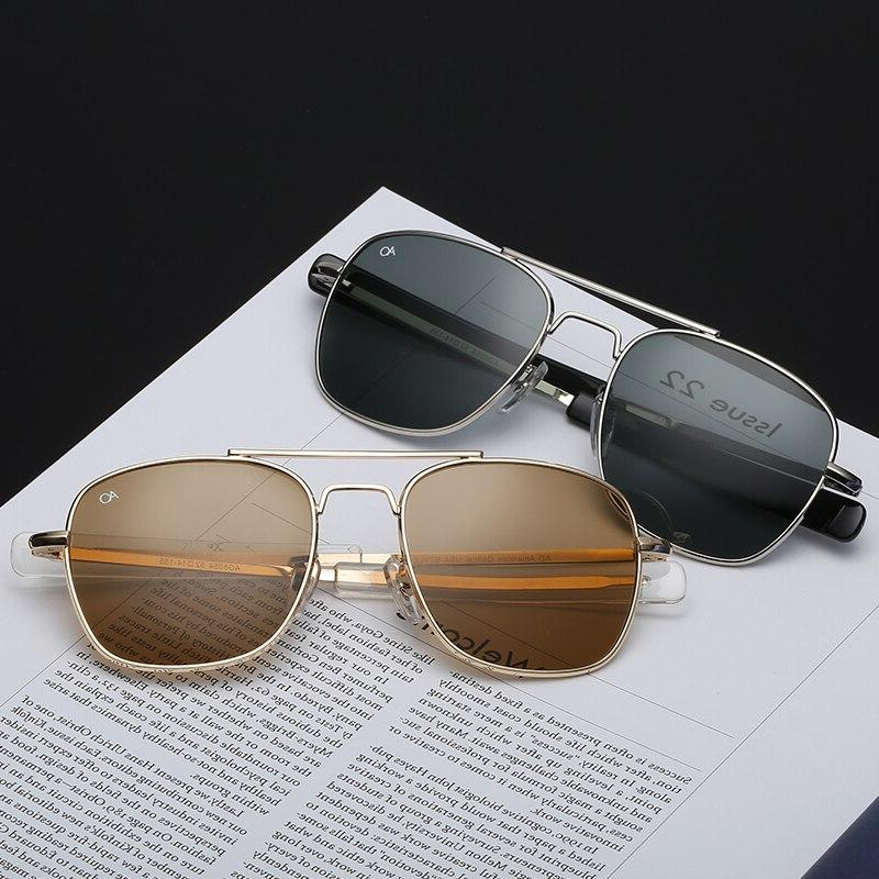 Fashion Men luxury Brand Sun Glasses For American Army Military Glass Lens