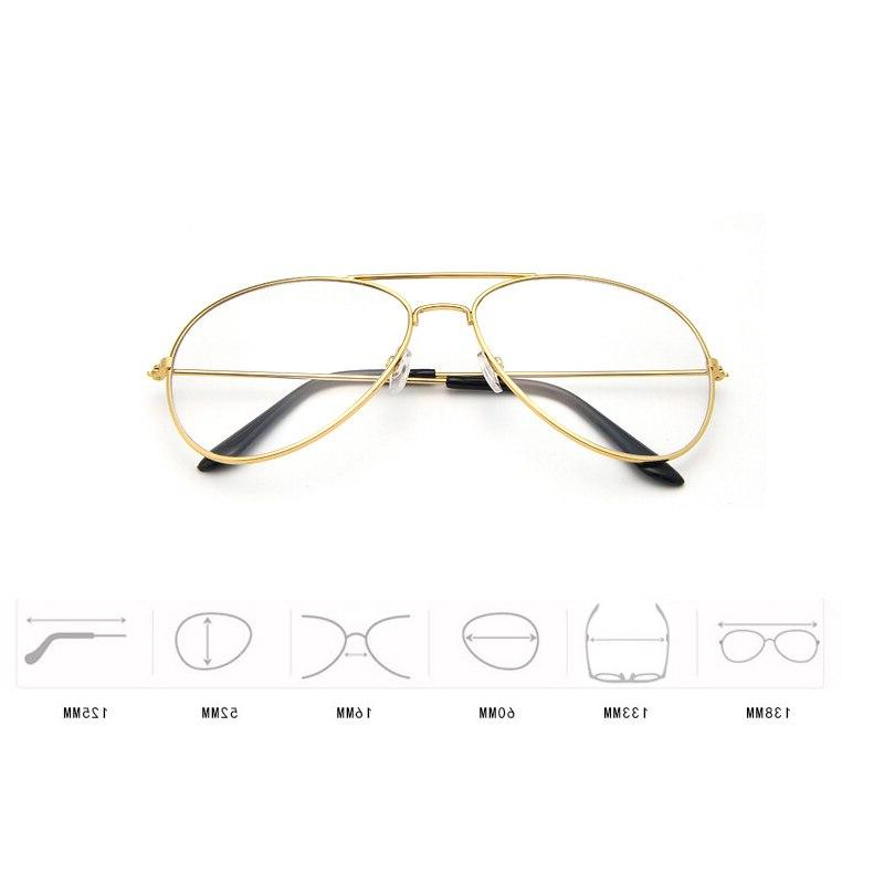 <font><b>Aviation</b></font> Round Transparent Women Pilot Style Glasses Classic