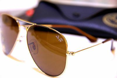 Geunine Ray RB3025 Gold Frame Brown Unisex