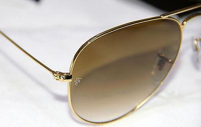 Geunine Ban RB3025 001/51 all size Gold Brown Unisex