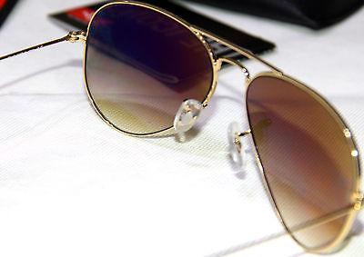 Geunine Ray Ban Aviator RB3025 all Gold Frame Unisex