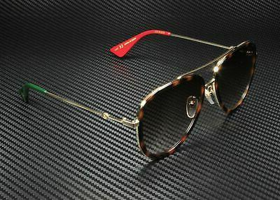 Gucci 012 Havana Gold Metal Sunglasses Brown Lens