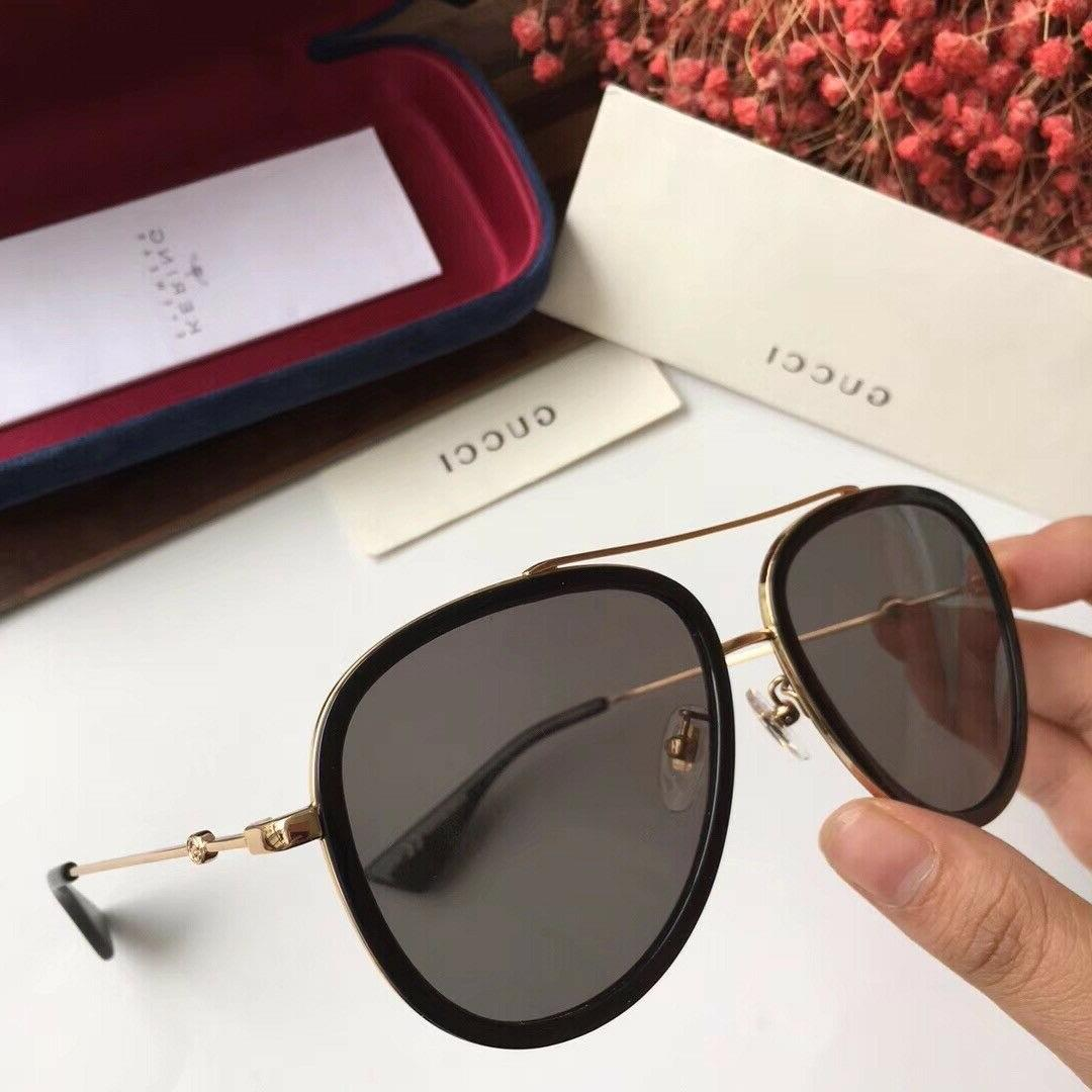 AUTHENTIC GUCCI SUNGLASSES GG0062S 011 57MM GOLD/BLACK FRAME