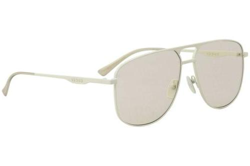 gg0336s 006 aviator ivory brown 60 mm