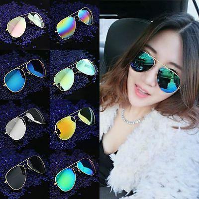 Glasses Women Lens Aviator Sunglasses Mirror Unisex