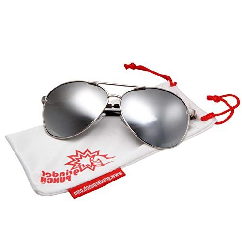 grinderPUNCH - Big Wide Frame Aviator Oversized 148mm Silver