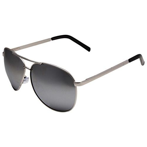 grinderPUNCH Wide Aviator Silver Mirrored