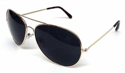 TOP GUN AVIATOR SUNGLASSES RETRO VINTAGE BLACK LENS POLICE P