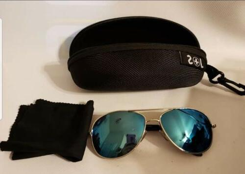 J+S Premium Aviator Sunglasses Polarized Mirror