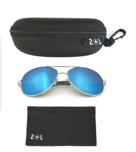 J+S Classic Sunglasses Polarized protection Mirror Unisex
