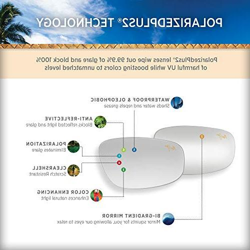 Maui Jim Sunglasses | Sugar H421-26 Rootbeer Rimless Polarized HCL Lenses, Patented Technology