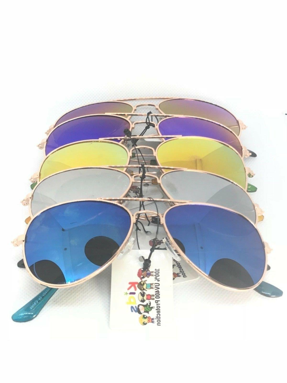 KIDS  junior size unisex AVIATOR sunglasses mirror Toddler C
