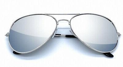 legend eyewear full silver mirror metal frame