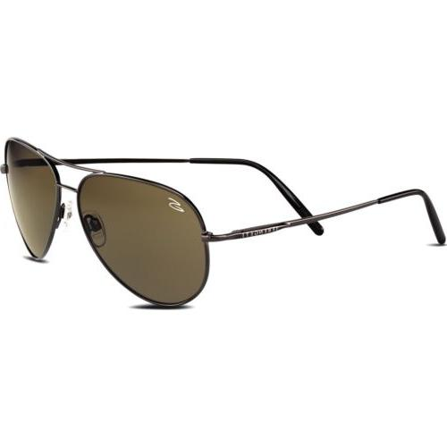 Serengeti Medium Aviator Shiny Gunmetal Photochromic Sunglas