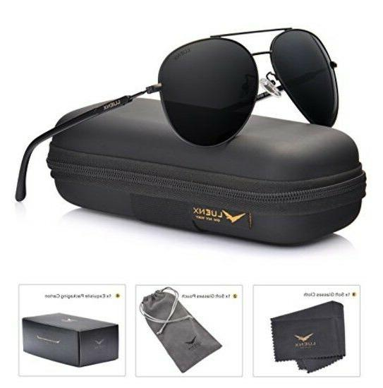 LUENX Men Aviator Sunglasses Polarized Women - UV 400 with c