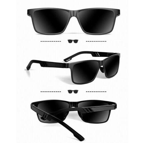 Men HD Polarized Sunglasses Al-Mg Metal Frame Outdoor
