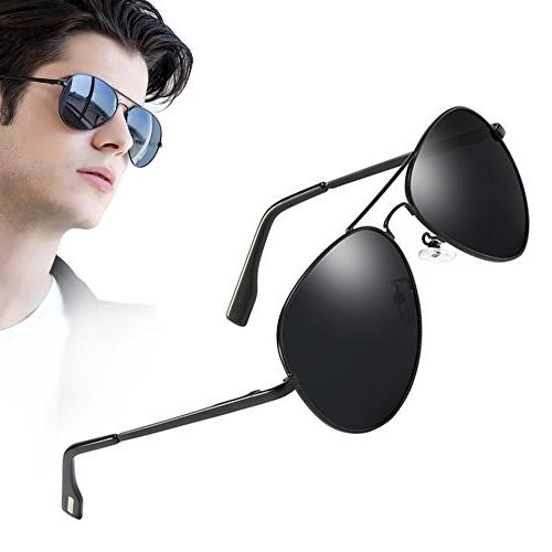 men military classic aviator polarized sunglasses uv400