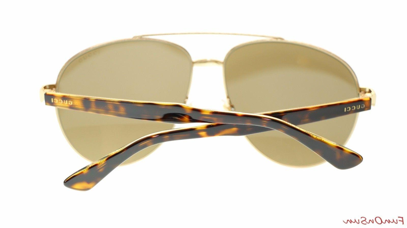 Gucci GG0054S 002 Gold Lens Authentic