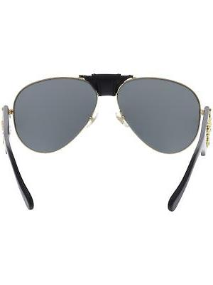 Versace Mirrored Gold Aviator